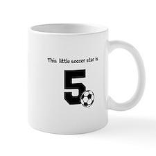Little Soccer Star Custom Age Mugs