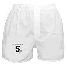 Little Soccer Star Custom Age Boxer Shorts