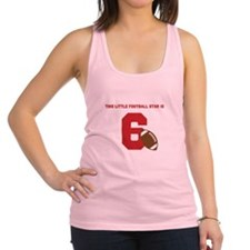 Football Star Custom Age Racerback Tank Top