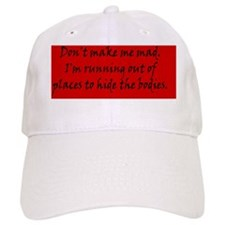 makememadRECTblk Baseball Cap