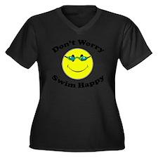 Don't Worry  Women's Plus Size Dark V-Neck T-Shirt