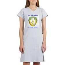 7TH CAV RGT WITH TEXT Women's Nightshirt