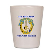 7TH CAV RGT WITH TEXT Shot Glass
