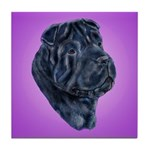 Black Shar Pei Tile Coaster