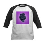 Black Shar Pei Kids Baseball Jersey