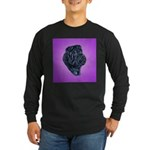 Black Shar Pei Long Sleeve Dark T-Shirt