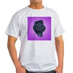Black Shar Pei Ash Grey T-Shirt
