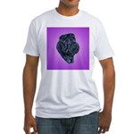 Black Shar Pei Fitted T-Shirt
