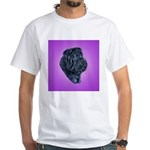 Black Shar Pei White T-Shirt