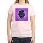 Black Shar Pei Women's Pink T-Shirt