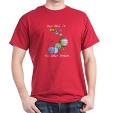 Best Dad in the Solar System Red T-Shirt