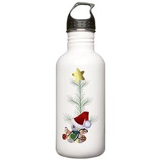 christmas tree elf Water Bottle