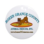 Boxer OC Rescue Ornament (Round)