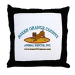 Boxer OC Rescue Throw Pillow