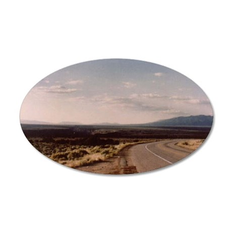 toas highway 35x21 Oval Wall Decal