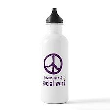 PeaceSign12x12 Water Bottle