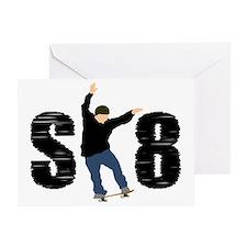 sk8_patinador_2_light Greeting Card