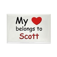 My heart belongs to scott Rectangle Magnet