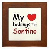My heart belongs to santino Framed Tile