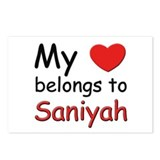 My heart belongs to saniyah Postcards (Package of
