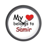 My heart belongs to samir Wall Clock