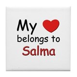 My heart belongs to salma Tile Coaster