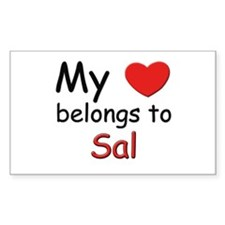 My heart belongs to sal Rectangle Decal