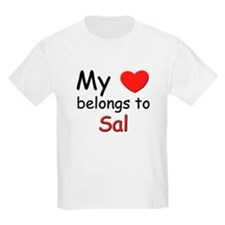 My heart belongs to sal Kids T-Shirt