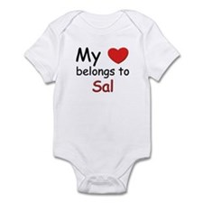 My heart belongs to sal Infant Bodysuit
