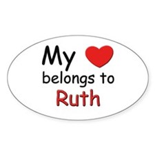 My heart belongs to ruth Oval Decal