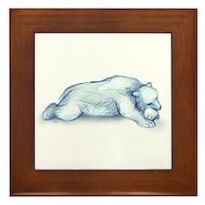 Polar Bear Napping Framed Tile