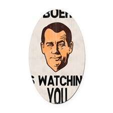 big-boehner-LG Oval Car Magnet