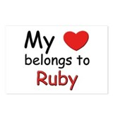 My heart belongs to ruby Postcards (Package of 8)