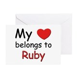My heart belongs to ruby Greeting Cards (Package o