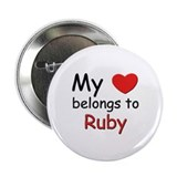 My heart belongs to ruby Button