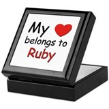 My heart belongs to ruby Keepsake Box