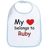 My heart belongs to ruby Bib