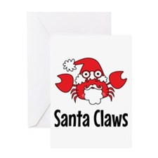 Santa Claws Greeting Cards