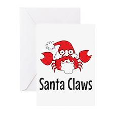Santa Claws Greeting Cards