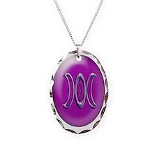 goddess bloom purple ornament_ Necklace