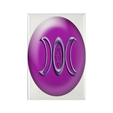 goddess bloom purple ornament_ova Rectangle Magnet