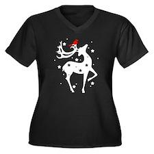 Winter Reindeer Plus Size T-Shirt