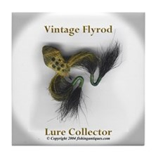 Flyrod Lure Collector Tile Coaster