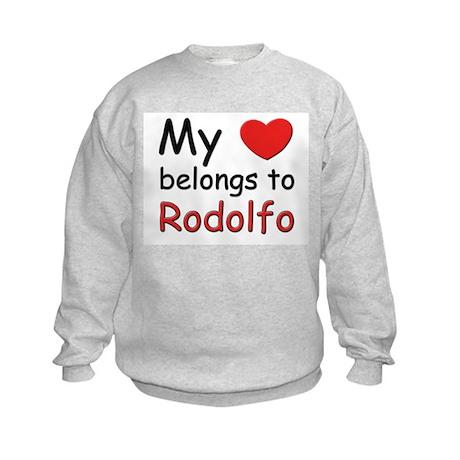My heart belongs to rodolfo Kids Sweatshirt
