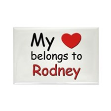 My heart belongs to rodney Rectangle Magnet