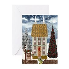 Irish Christmas Cottage Greeting Cards