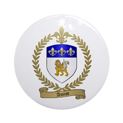 AMIOT Family Crest Ornament (Round)