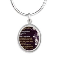 Soldier Creed Silver Oval Necklace