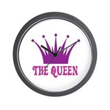 The Queen: Crown Wall Clock