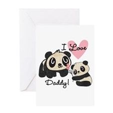Pandas I Love Daddy Greeting Card